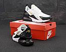 Кроссовки мужские Nike Air Max 270  White Black Gold, фото 4
