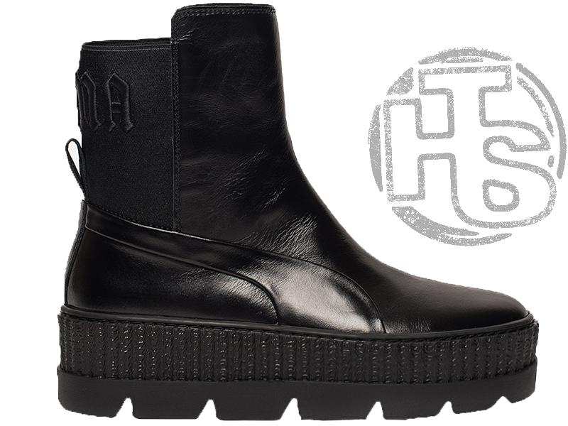 Женские ботинки Puma Chelsea Sneaker Boot Rihanna Fenty Black 366266-03