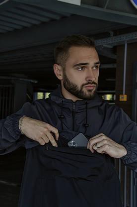 Спортивный костюм Nike мужской Найк серый черный + Барсетка в Подарок, фото 3