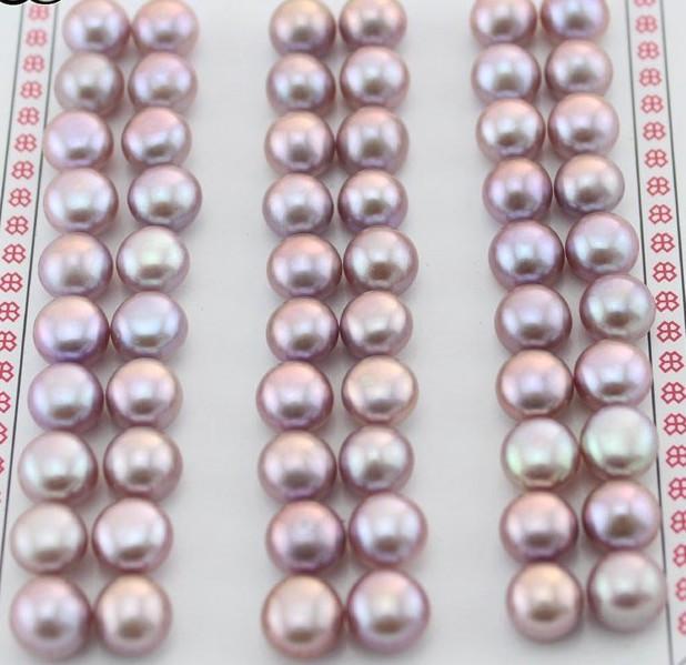 Пресноводный фиолетовый жемчуг  пара 8 - 8.5 mm