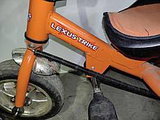 Б/У Велосипед трехколесный с родительской ручкой Lexus Trike оранжевый, фото 2