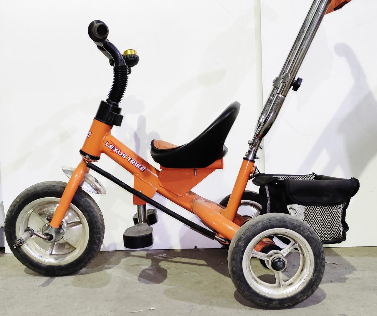 Б/У Велосипед трехколесный с родительской ручкой Lexus Trike оранжевый