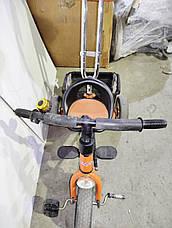 Б/У Велосипед трехколесный с родительской ручкой Lexus Trike оранжевый, фото 3