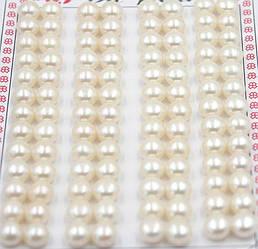 Пресноводный белый жемчуг  пара 6 - 7 mm