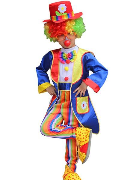 Детский карнавальный костюм клоуна для мальчика