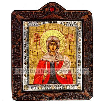 Икона Дария (Дарья) Святая Мученица Римская   ,икона на коже 80х100 мм
