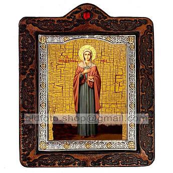 Икона Ева Святая Праматерь  ,икона на коже 80х100 мм