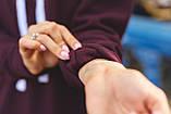 Жіночий теплий худі кофта з капюшоном трехнить на флісі розмір 42-48, фото 2