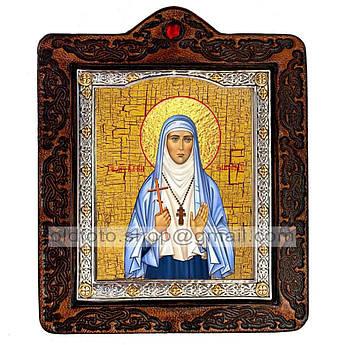 Икона Елисавета (Елизавета) Святая Мученица Великая Княгиня  ,икона на коже 80х100 мм