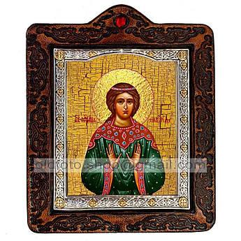 Икона Надежда Святая Мученица Римская  ,икона на коже 80х100 мм