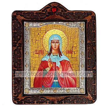 Икона София Святая Мученица Римская  ,икона на коже 80х100 мм