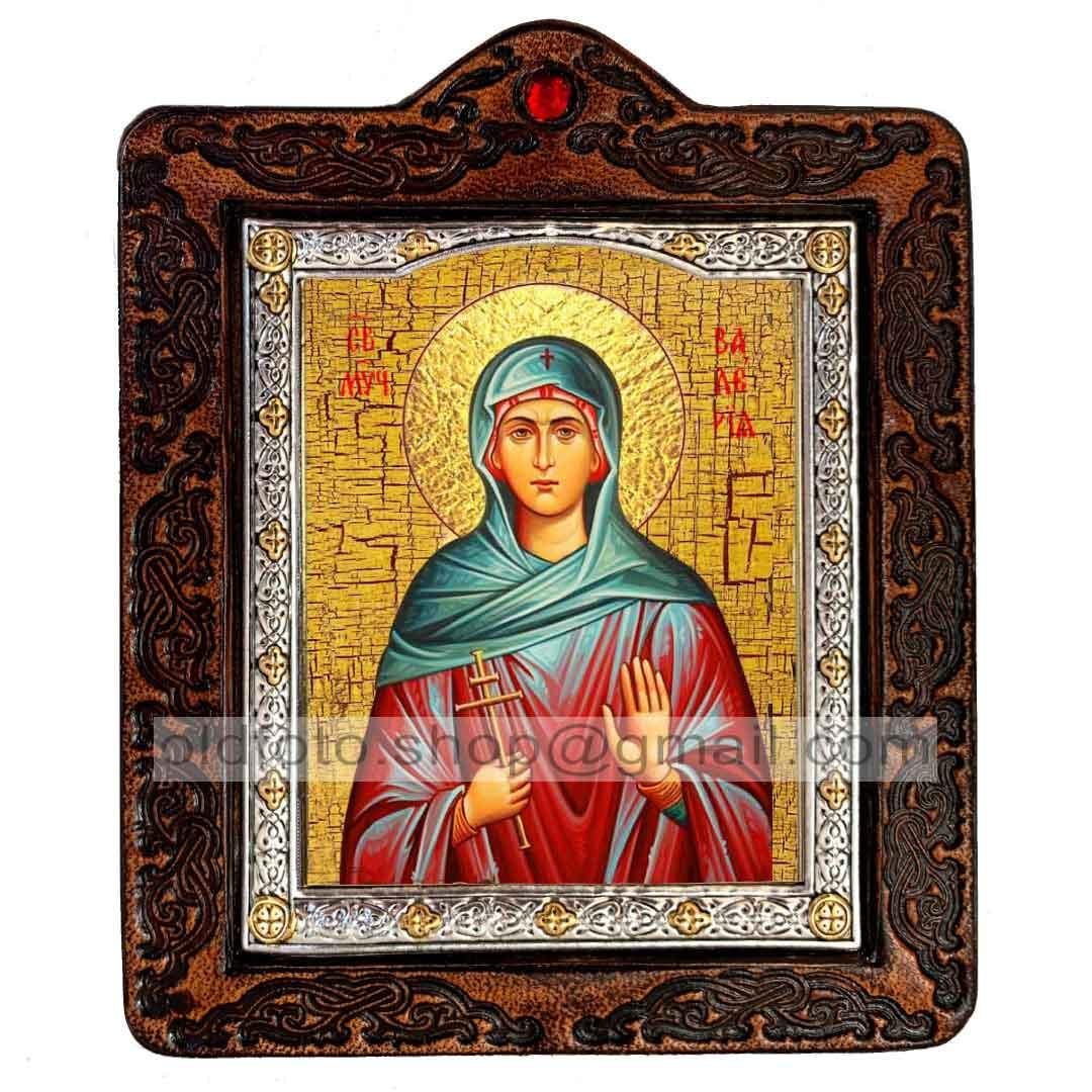 Ікона Валерія (Калерія) Свята Мучениця Кесарийская (на шкірі 80х100мм)