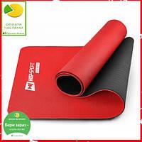 Мат для фітнесу TPE 0,6 см HS-T006GM red