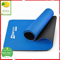 Мат для фітнесу TPE 0,6 см HS-T006GM blue