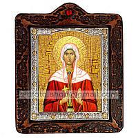 Икона Христина (Кристина) Святая Мученица  ,икона на коже 80х100 мм