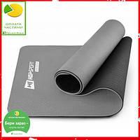 Мат для фітнесу TPE 0,6 см HS-T006GM grey