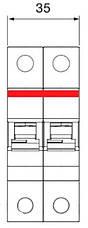 Автоматичний вимикач 20А, 2 полюси, тип C, ABB SH202-C20, фото 3
