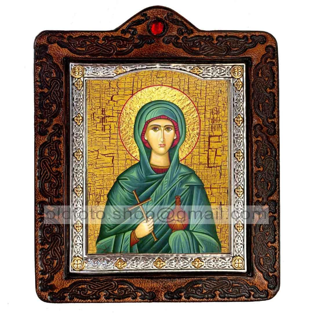 Ікона Соломія Свята мироносиця (на шкірі 80х100мм)
