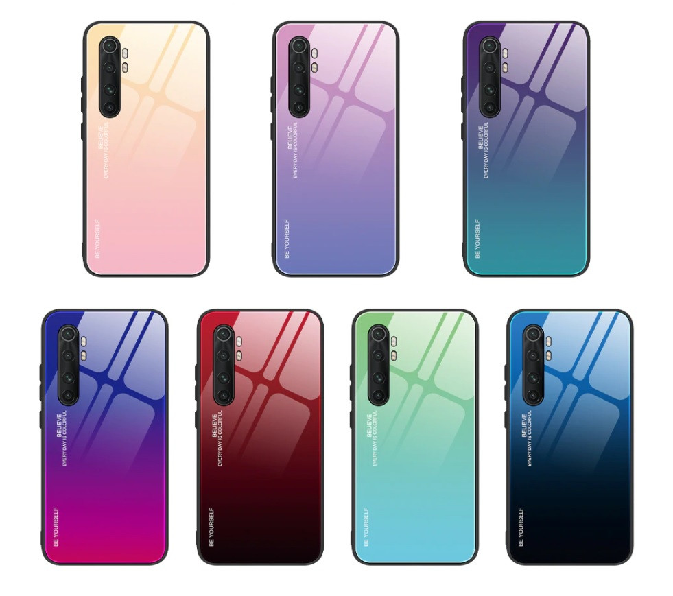 Чехол Gradient для Xiaomi Mi Note 10 Lite (разные цвета)