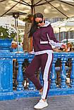 Женский теплый спортивный костюм двойка кофта на молнии+штаны трехнить+плащевка размер:48-50,52-54, фото 8
