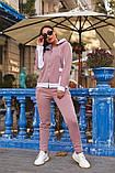 Женский теплый спортивный костюм двойка кофта на молнии+штаны трехнить+плащевка размер:48-50,52-54, фото 6