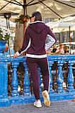 Женский теплый спортивный костюм двойка кофта на молнии+штаны трехнить+плащевка размер:48-50,52-54, фото 9