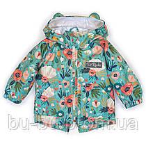 Куртка-парка демисезонная ДоРечі Сказочные цветы, 74