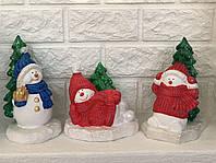 Набор фигурок для декора Снеговички (3 штуки), 16 - 22 см