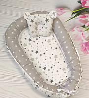 Кокон-позиционер для новорожденного гнездо кокон для ребёнка Звезда2