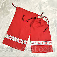 Мешочек подарочный из ткани многоразовый 25 х 13 см
