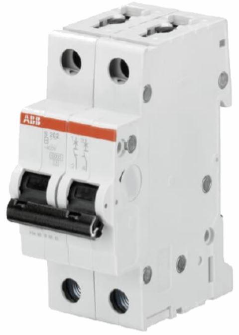 Автоматический выключатель 63А, 2 полюса, тип C, ABB SH202-C63