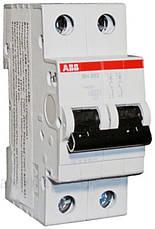 Автоматический выключатель 63А, 2 полюса, тип C, ABB SH202-C63, фото 2