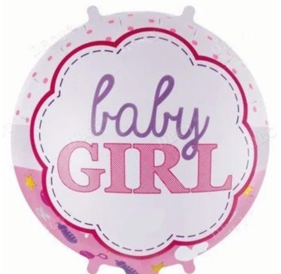 "Фольгована кулька коло Baby Girl 18"" Китай"