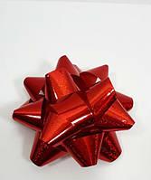Новорічний червоний бант 7-8см поліпропіленовий, фото 1