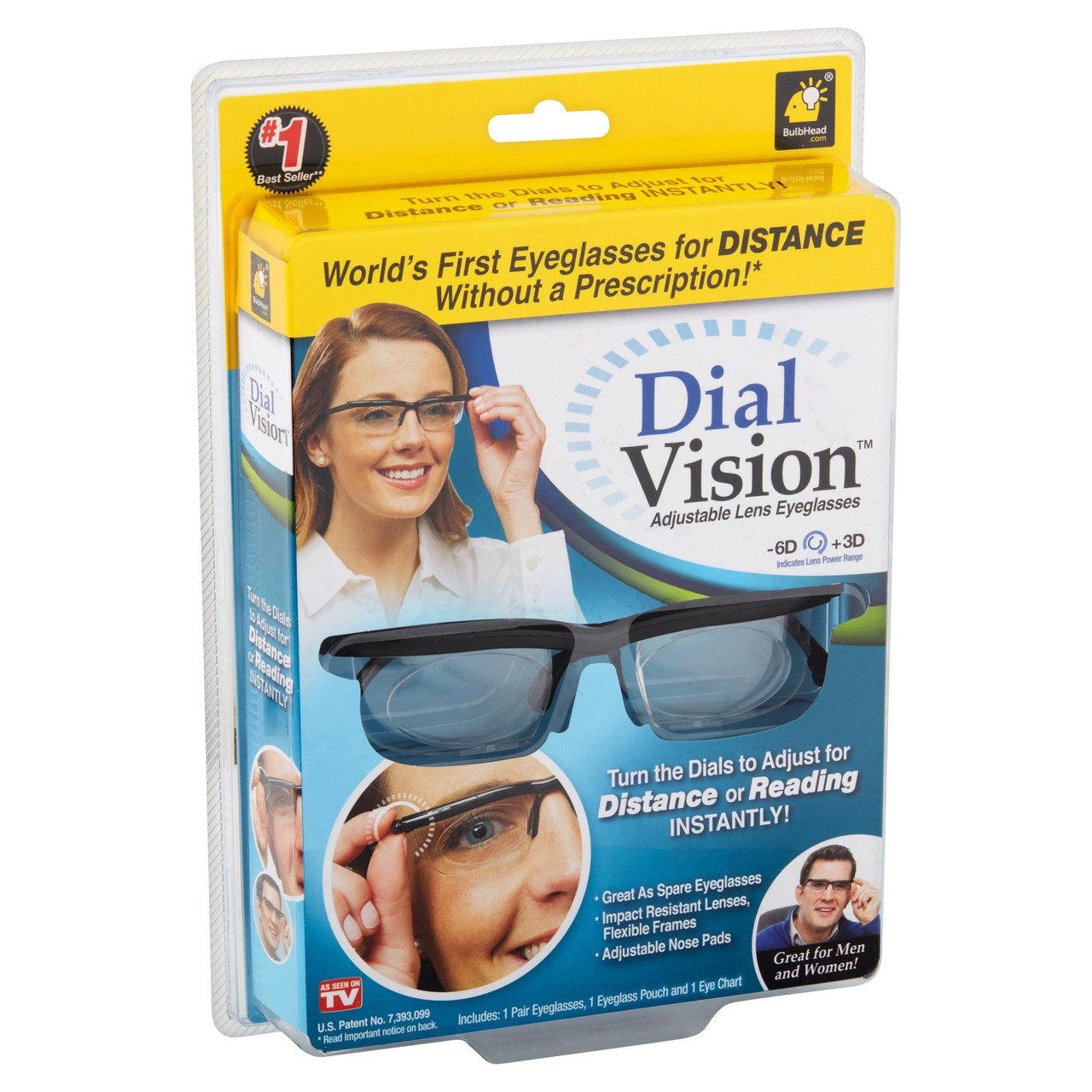 Универсальные очки для зрения Dial Vision с регулировкой линз от -6 до +3 (Живые фото)