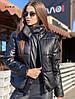 Крута куртка еко шкіра,утеплювач-синтепон 200. Розмір:42-46. Різні кольори (100 ), фото 5