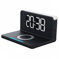 Умные часы с LED-подсветкой и беспроводной зарядкой SY-W0241, черные, фото 1