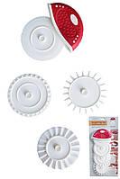 Набор сменных кондитерских резаков для нарезки теста 4 штуки