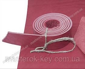 Полоса ременная из кожи растительного дубления без финишного покрытия 1300*34*4 мм цвет красный