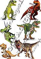 Пищевая вафельная картинка Динозавры 10