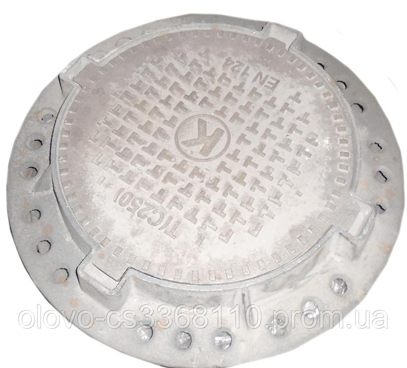 Люк канализационный Булат ЛКВ20б3П Т(С250) тяжелый 840х100 мм