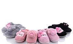 Детские меховые тапочки комнатные для дома домашние для девочки котики 30-35р 4323