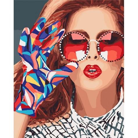 Картини за номерами - Модниця | Ідейка™ 40х50 див. | КН4577