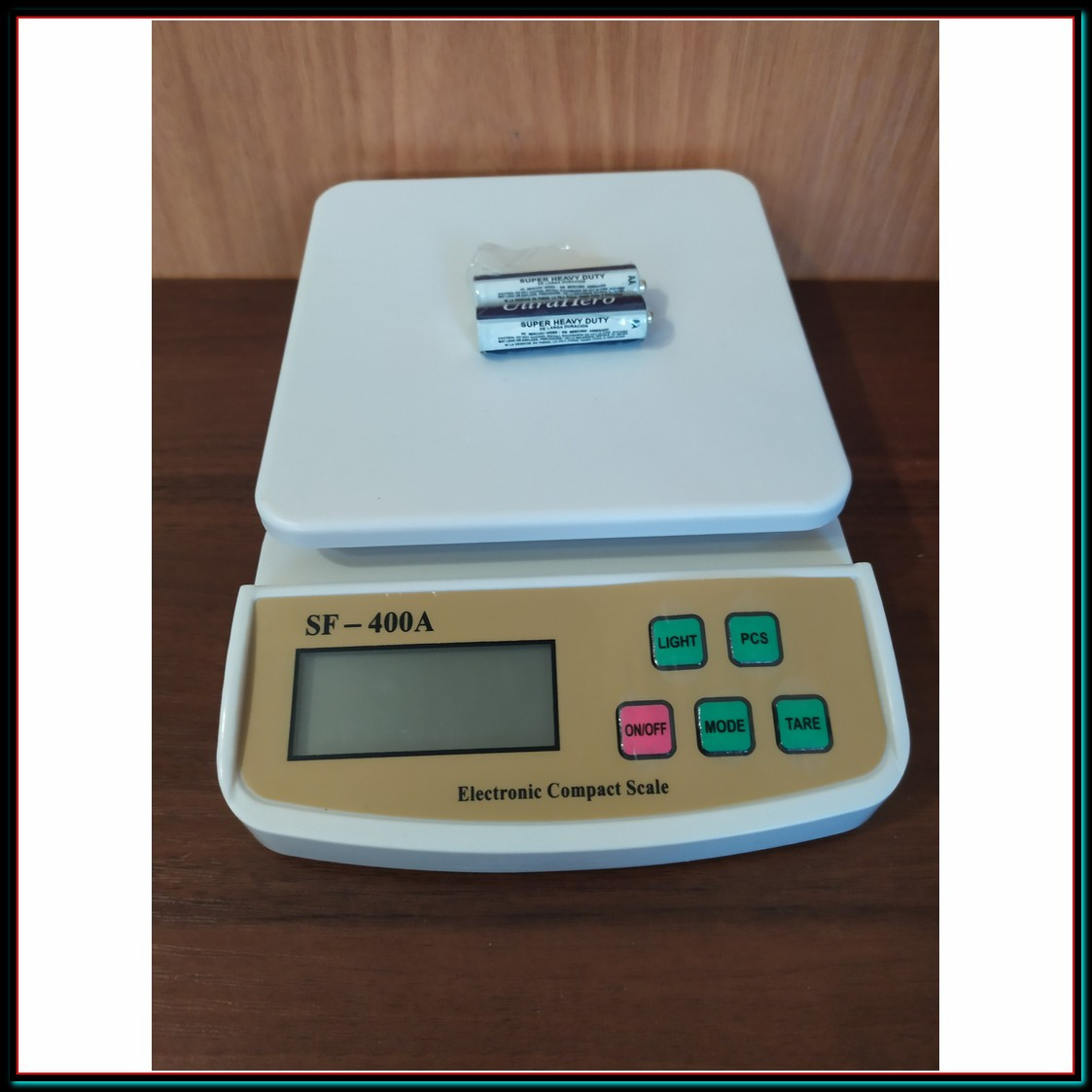 Электронные кухонные весы до 5 кг SF-400A с подсветкой + батарейки