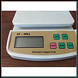 Электронные кухонные весы до 5 кг SF-400A с подсветкой + батарейки, фото 4