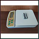 Электронные кухонные весы до 5 кг SF-400A с подсветкой + батарейки, фото 5