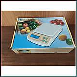 Электронные кухонные весы до 5 кг SF-400A с подсветкой + батарейки, фото 8