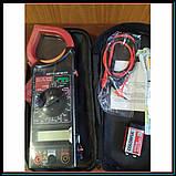 Профессиональный мультиметр тестер + токоизмерительные клещи DT 266 FT, фото 4