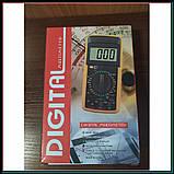 Профессиональный цифровой мультиметр тестер DT-9208 А, фото 5