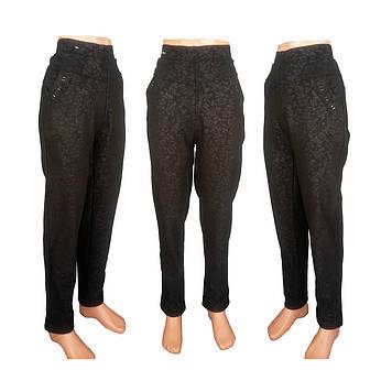 Женские леггинсы брюки микс на верблюжьей шерсти со стразами на карманах.